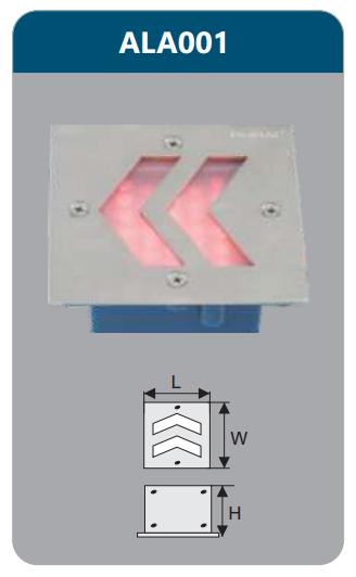 Đèn led âm tường 5w ALA001