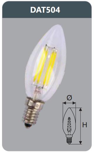 Bóng led bulb 4w DAT504
