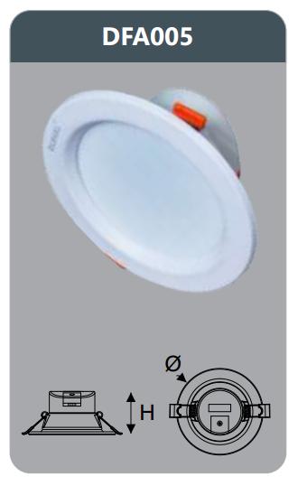 Đèn led tán quang âm trần 5w DFA005