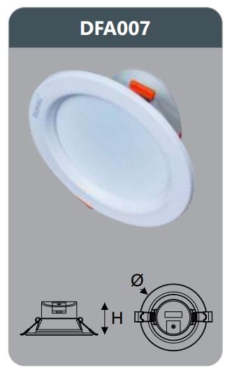 Đèn led tán quang âm trần 7w DFA007