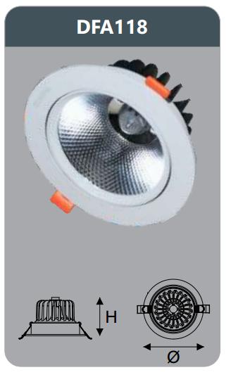 Đèn led chiếu sâu âm trần 18w DFA118