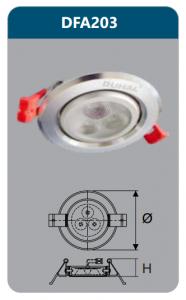 Đèn âm trần led chiếu điểm 3w DFA203