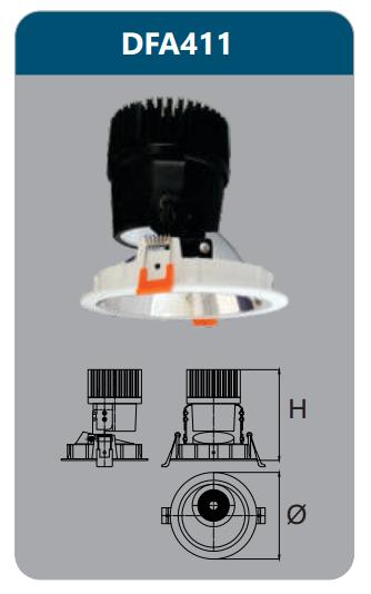 Đèn led chiếu điểm âm trần 9-12w DFA411