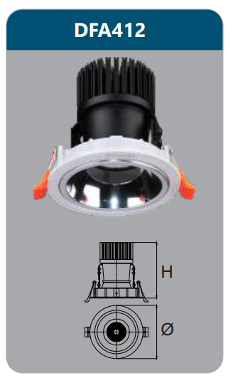 Đèn led chiếu điểm âm trần 9-12w DFA412