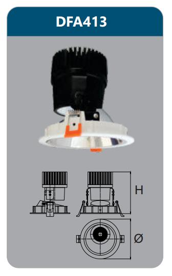 Đèn led chiếu điểm âm trần 15-18w DFA413