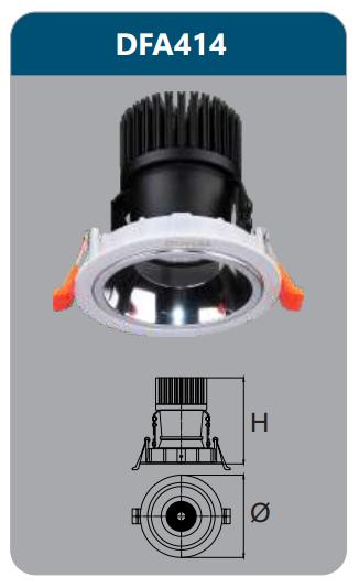 Đèn led chiếu điểm âm trần 15-18w DFA414