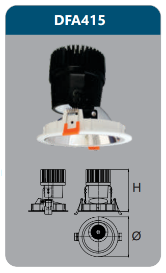 Đèn led chiếu điểm âm trần 30w DFA415