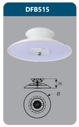 Đèn ốp trần led 15w DFB515