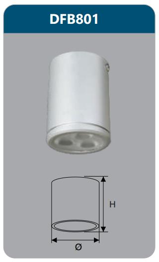 Đèn led gắn nổi chiếu sâu 3w DFB801