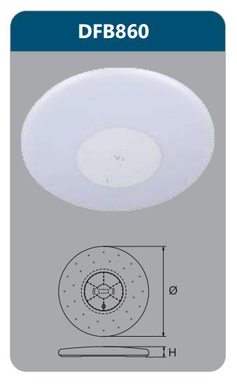 Đèn ốp trần led điều khiển 60w DFB860