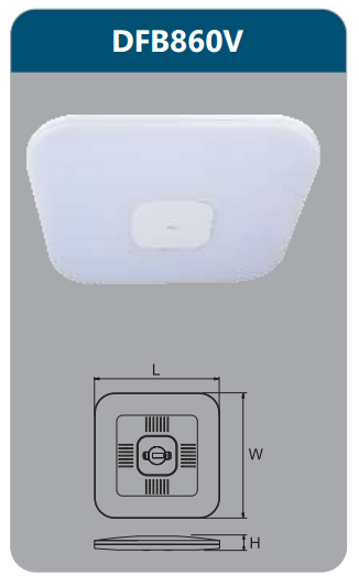 Đèn ốp trần led điều khiển 60w DFB860V