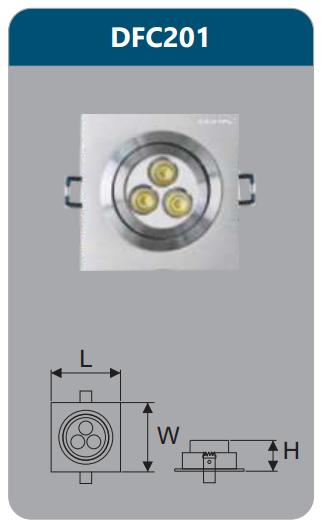 Đèn âm trần led chiếu điểm 3w DFC201