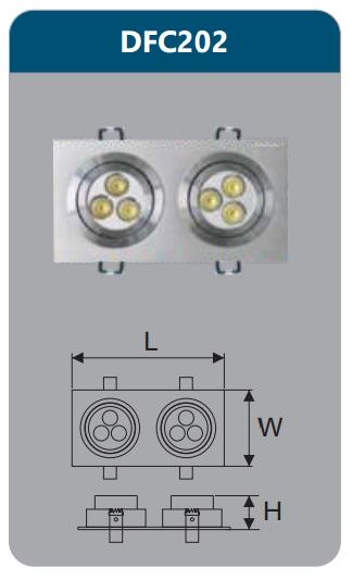Đèn âm trần led chiếu điểm 6w DFC202