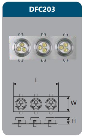 Đèn âm trần led chiếu điểm 6w DFC203