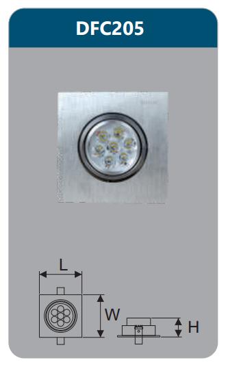 Đèn âm trần led chiếu điểm 7w DFC205