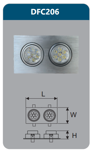 Đèn âm trần led chiếu điểm 14w DFC206