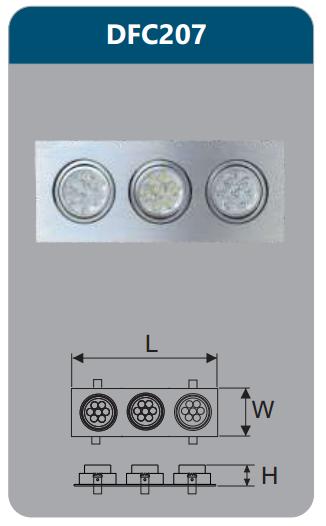 Đèn âm trần led chiếu điểm 21w DFC207