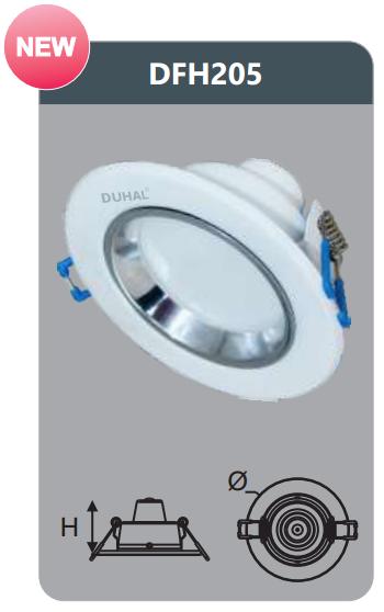 Đèn led tán quang âm trần 5w DFH205