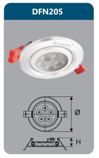 Đèn âm trần led chiếu điểm 5w DFN205