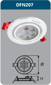 Đèn âm trần led chiếu điểm 7w DFN207