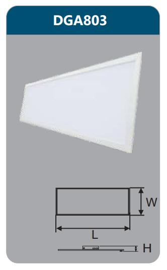 Đèn led panel bảng cao cấp 42w DGA803