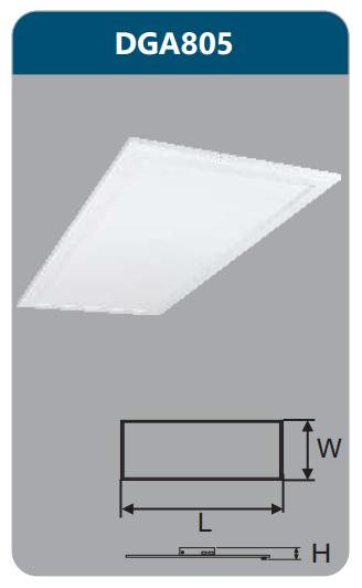 Đèn led panel bảng cao cấp 64w DGA805