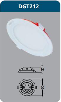 Đèn led panel âm trần tròn 12w DGT212