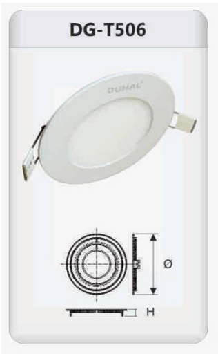 Đèn led panel âm trần tròn 6w DGT506