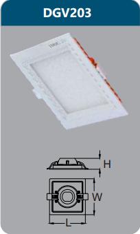 Đèn led panel cao cấp âm trần 3w DGV203