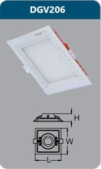 Đèn led panel cao cấp âm trần 6w DGV206