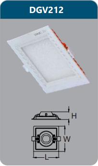 Đèn led panel cao cấp âm trần 12w DGV212