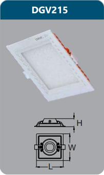 Đèn led panel cao cấp âm trần 15w DGV215