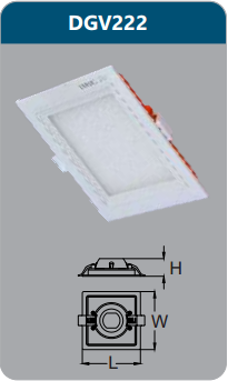 Đèn led panel cao cấp âm trần 22w DGV222