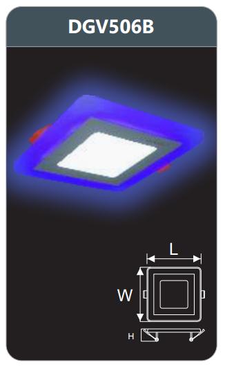 Đèn led panel màu âm trần 6w DGV506B