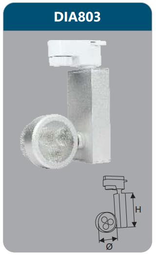 Đèn led chiếu điểm thanh ray 3w DIA803