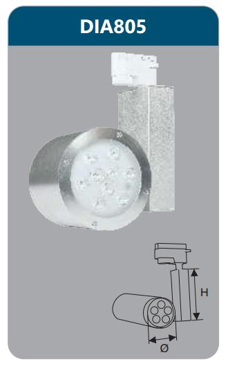 Đèn led chiếu điểm thanh ray 5w DIA805
