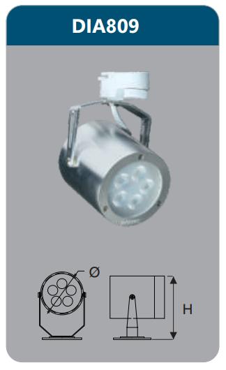 Đèn led chiếu điểm thanh ray 5w DIA809