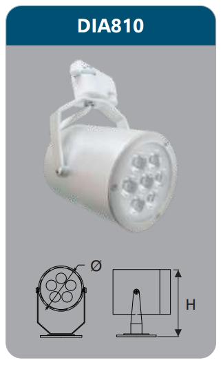 Đèn led chiếu điểm thanh ray 7w DIA810