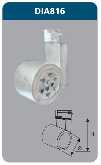 Đèn led chiếu điểm thanh ray 9w DIA816