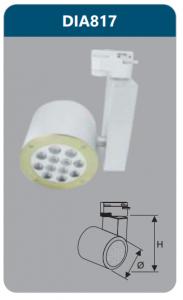 Đèn led chiếu điểm thanh ray 12w DIA817