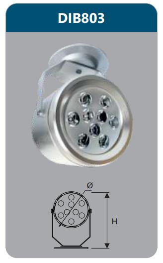 Đèn led chiếu điểm gắn trần 9w DIB803