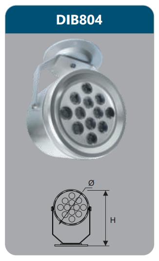 Đèn led chiếu điểm gắn trần 12w DIB804