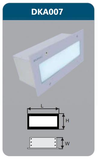 Đèn led âm tường 5w DKA007