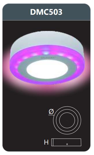 Đèn led panel đổi màu gắn nổi 3w DMC503