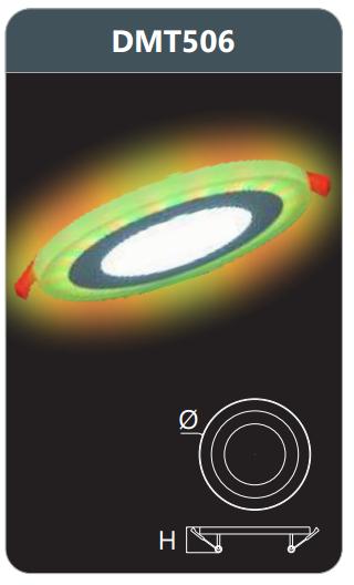 Đèn led panel đổi màu âm trần 6w DMT506