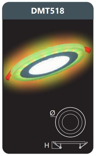 Đèn led panel đổi màu âm trần 18w DMT518