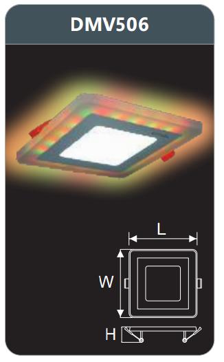Đèn led panel đổi màu âm trần 6w DMV506