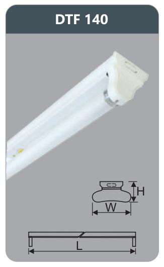 Đèn huỳnh quang siêu mỏng kiểu batten 18w DTF140