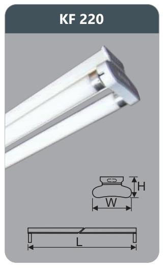 Đèn huỳnh quang siêu mỏng kiểu batten 9w KF220