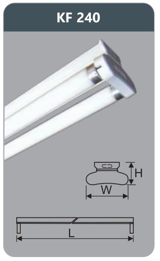 Đèn huỳnh quang siêu mỏng kiểu batten 18w KF240